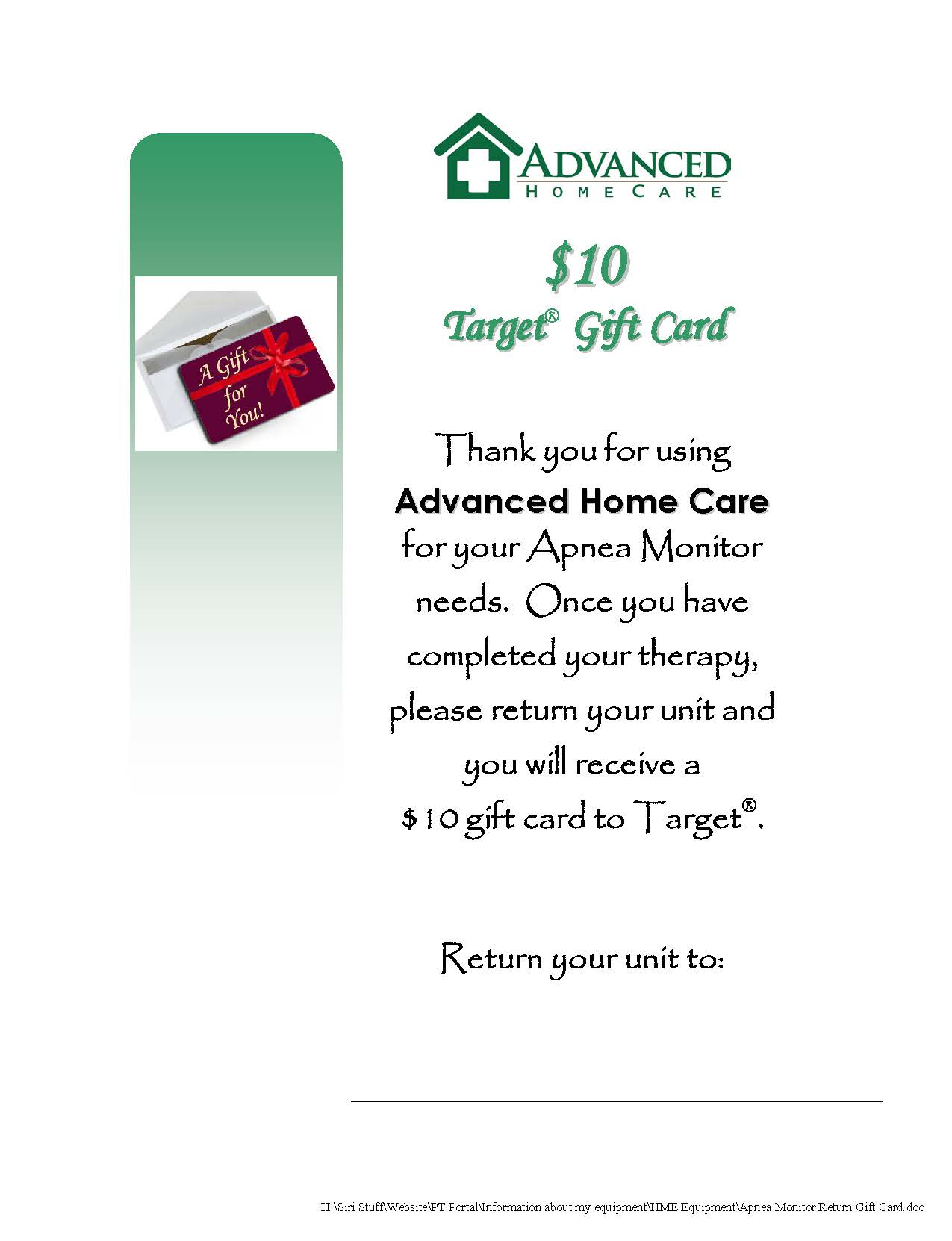 Advanced Home Care: Information Center